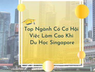 ngành có cơ hội việc làm cao và định cư tại Singapore