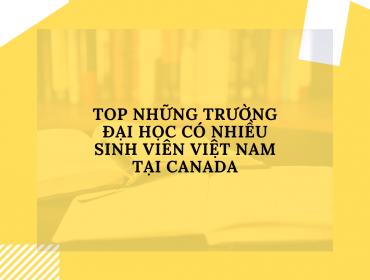 Top những trường đại học có nhiều sinh viên Việt Nam tại CANADA