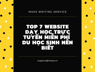 Top 7 website dạy học trực tuyến du học sinh nên biết