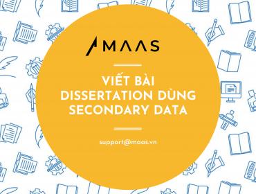 Viết bài dissertation dùng secondary data
